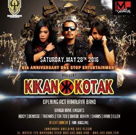 Bandung are you ready to #longliverocknroll ? Yuk merapat ke Caesar Palace ya Kerabat tgl 28 May 1016 @kotakband_ https://t.co/qCv8yBZfvU