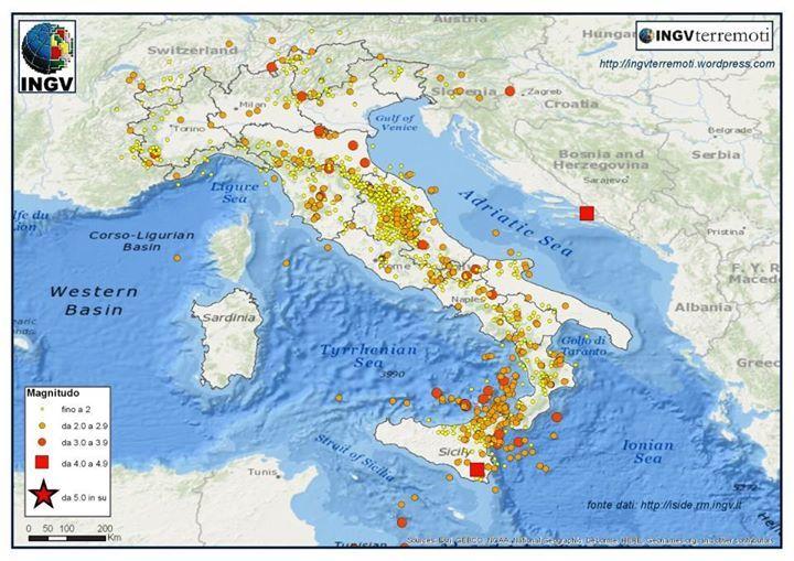 "Terremoti Italia, l'analisi INGV degli ultimi mesi con ""Italia Sismica"""