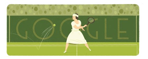 Cute Suzanne Lenglen google doodle today https://t.co/SprrKy0Mh7