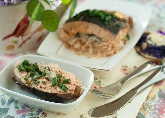 Рецепт горбуша с картошкой в духовке