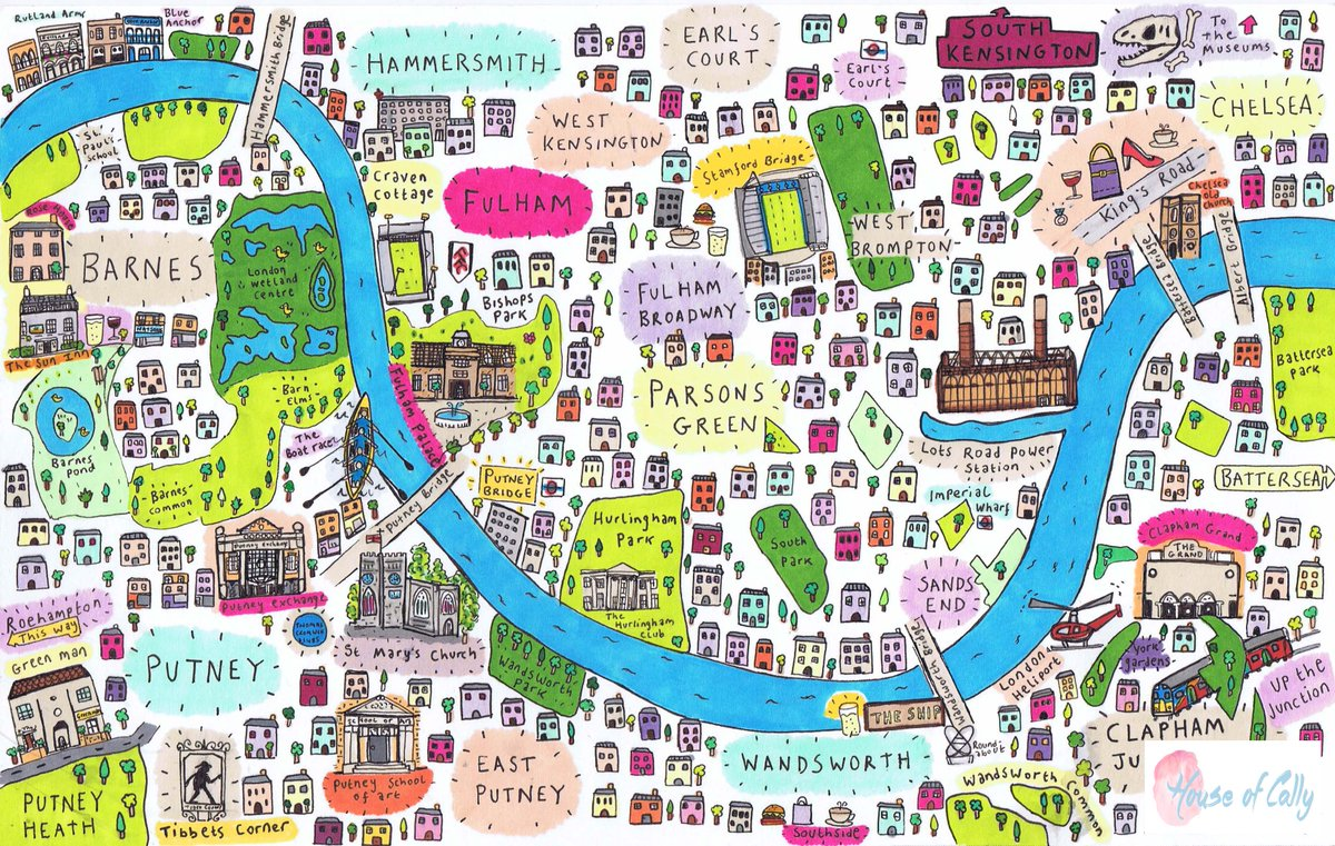 South West London Map.House Of Cally On Twitter My Latest Map Of South West London Is