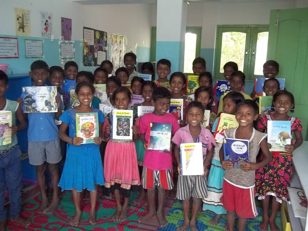 Just recd. some pictures from a school in Bihar. This is what happens when you #DonateABook https://t.co/jT8MR5zbpQ https://t.co/h5Brl9uDxt
