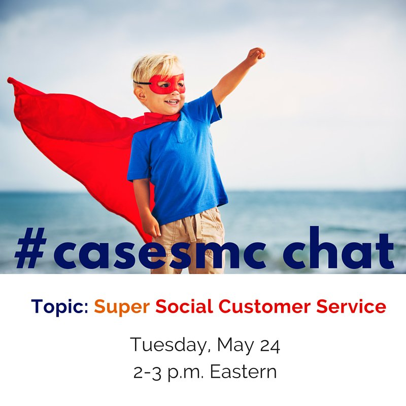 Today's #casesmc chat = how to tackle social #customerservice & turn haters into happy campers. Join us at 2! #hesm https://t.co/JSyFxD4r65