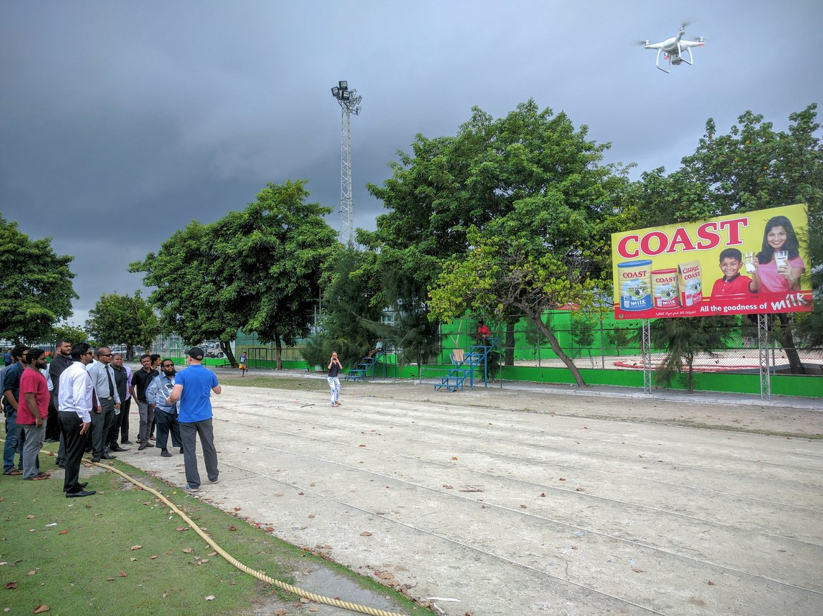 #Drones training in the Male soccer stadium with local experts and @DJIGlobal @UNDPMaldives https://t.co/NY3fTHCJcj