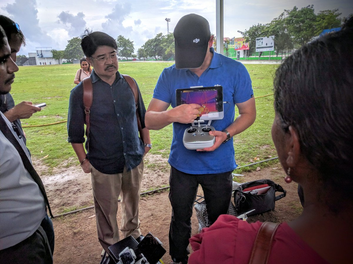 Escaped from the rain to do a thermal camera review with @UNDPMaldives @DJIGlobal https://t.co/KQpCIpIm9i