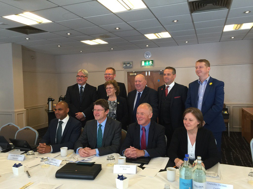 Core Cities leaders with Greg Clark MP