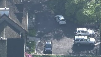 Developing: Skyfox over Cosby's Cheltenham home. He's due in court in half hourBillCosby