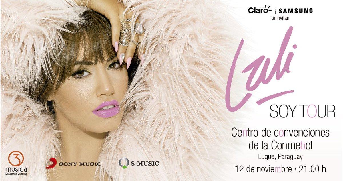 Están a la venta las entradas para el show de @laliespos SOY TOUR el 12/11 en la Conmebol Entradas: @RedUTS_Py https://t.co/NecIcSixi2