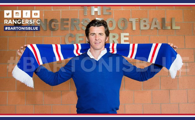 Joey Barton joins Rangers for the next two years