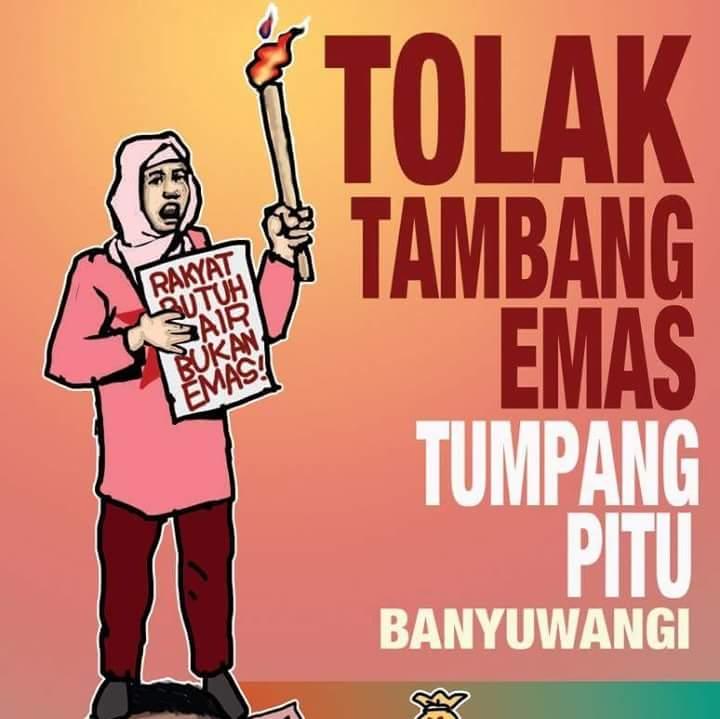 #TolakTambangEmas Tumpang Pitu, Banguwangi. Rakyat butuh air, bkn emas