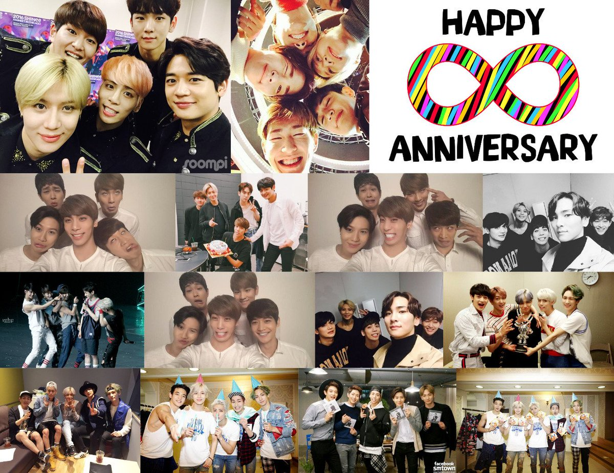 Happy 8th Anniversary, SHINee! 8주년 축하해요! Always stay cheerful, healthy and loving ~ ♥ #SHINee8thAnniversary https://t.co/ngCp2pLaKY