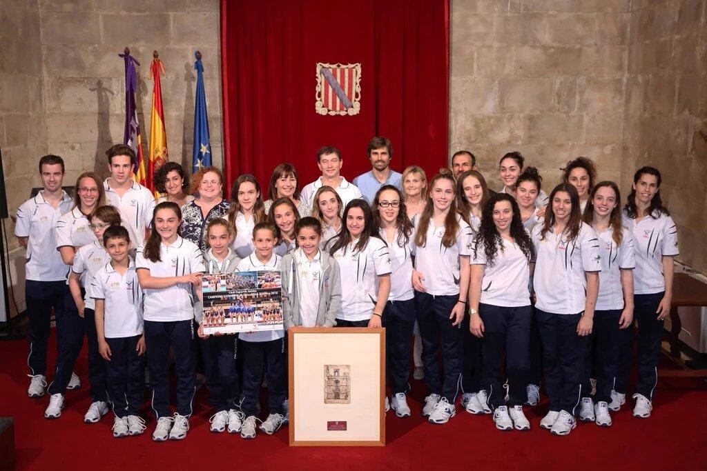 Armengol felicita al Club Deportivo Xelska, siete veces campeón de España de Clubes de Gimnasia Artística Femenina