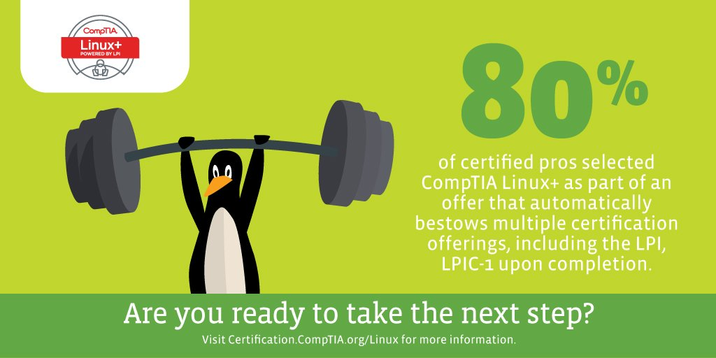 Comptia On Twitter Comptia Linux Holds Weight Because It Is
