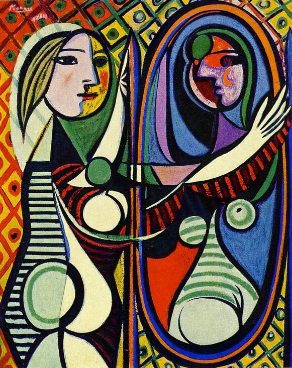 Pablo Picasso ~ 'Girl Before a Mirror' (1932) Oil on canvas.   #art #arte #artwit #kunst #painting