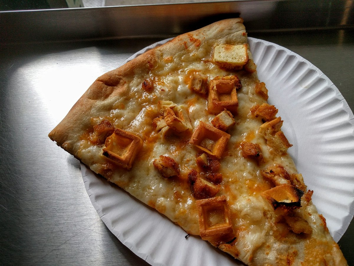 Chicken and waffles slice, Port Authority https://t.co/I4iVdLQVrv