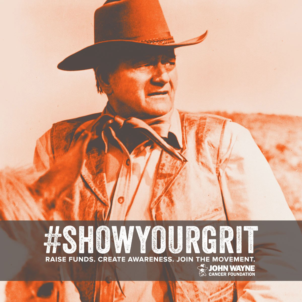 .@JohnDukeWayne fans can soon join the cancer fight w/ Duke-inspired selfies. #ShowYourGrit. https://t.co/FaKa7gUxpY https://t.co/BnEaYeSpes