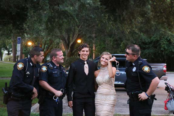 Officers step in to escort slain colleague's daughter to prom: (Pic: Tarpon Springs PD)