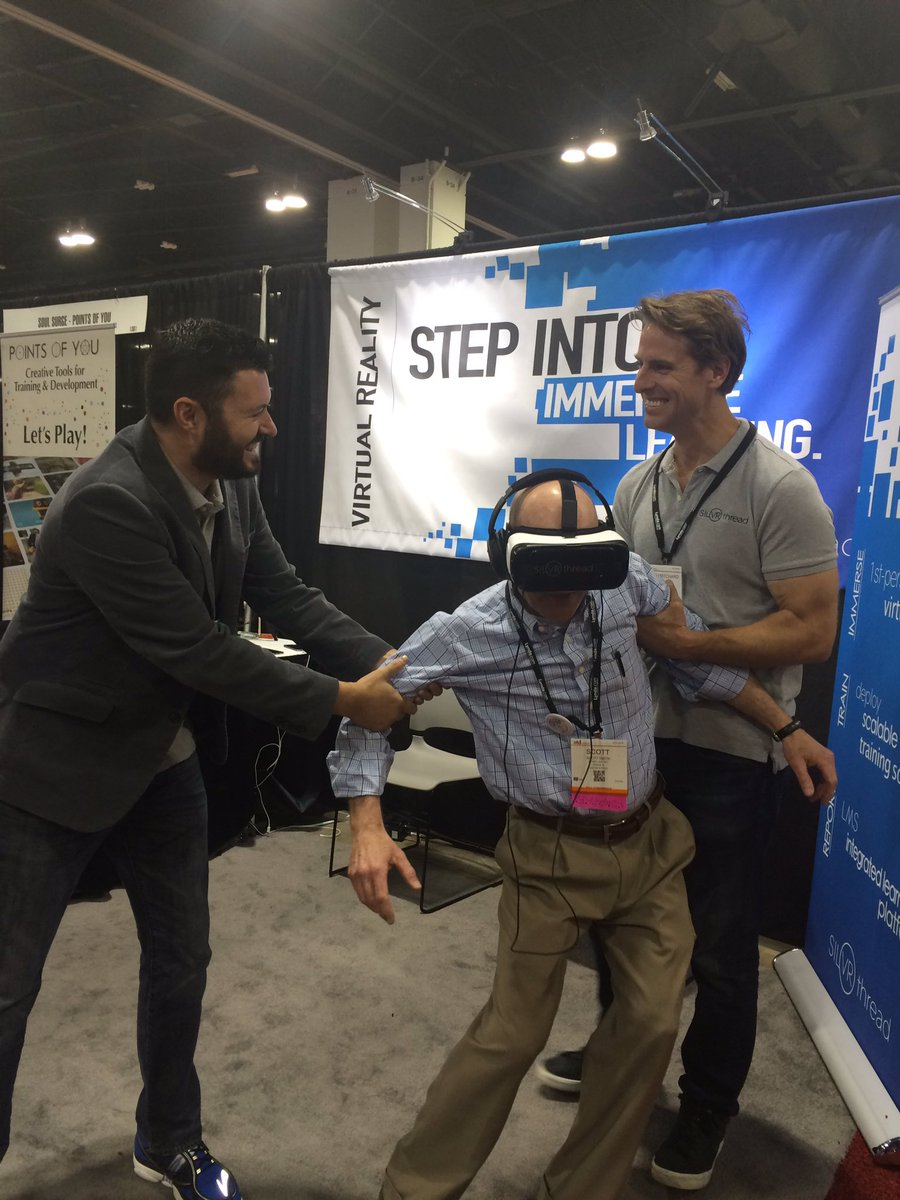 Great time at #ATD2016 showing off #VirtualReality with @SilVRthread. One day left to try it out! Booth 1363 https://t.co/bzTjmBoA29