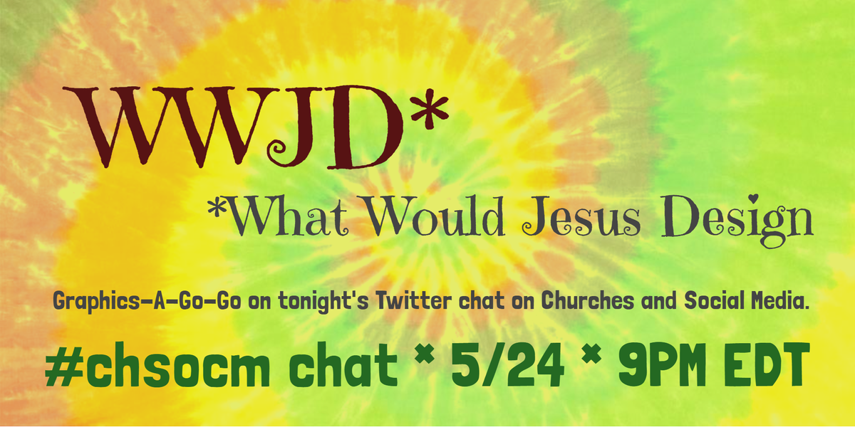 Tonight's church and social media chat, #chsocm, is all about the graphics. Join us at 9PM EST. https://t.co/7QJ6qwM3xX