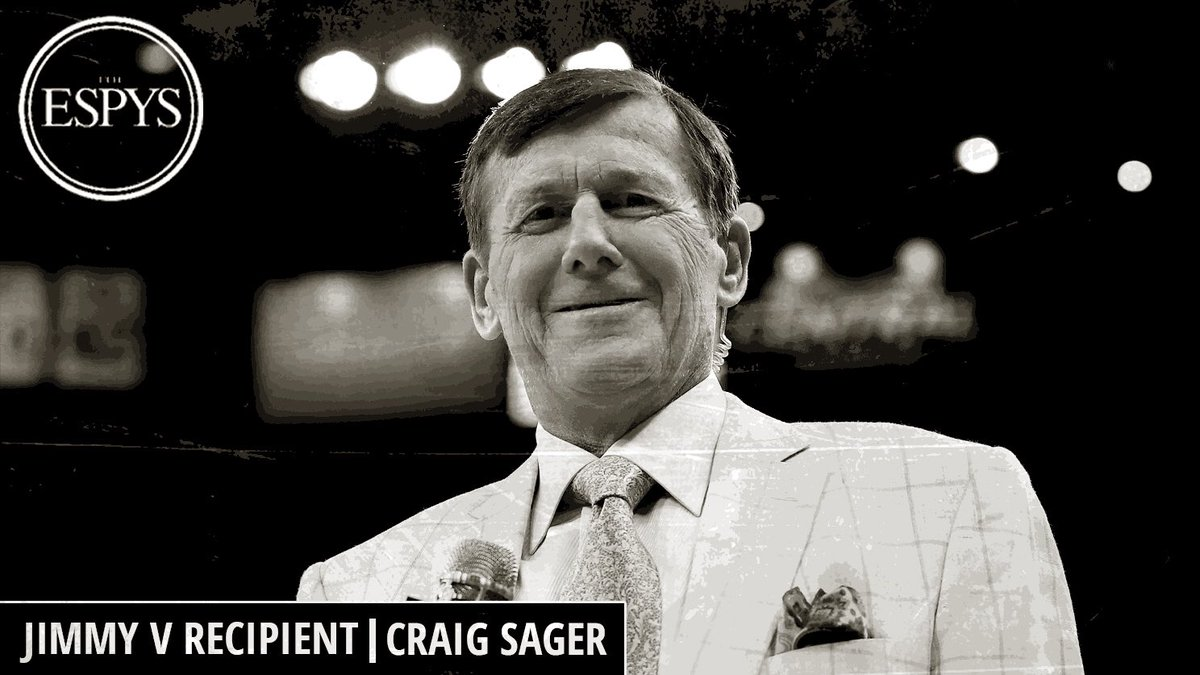 BREAKING: Craig Sager will be the recipient of this year's Jimmy V Award for Perseverance. #SagerStrong https://t.co/tHEK7M4gg7