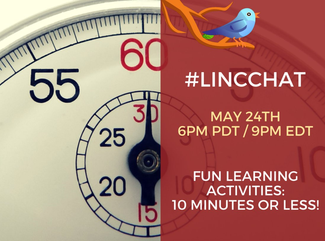 Getting ready for #LINCchat! Hope you can join us at 6 pm PDT/9 pm EDT. https://t.co/I7omMKhRWW