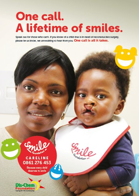 If you know of a child that is in need of reconstructive surgery, call the @SmileFundSA on 0861 276 453. https://t.co/spX0VvfPFK