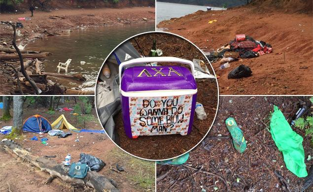Oregon frat bros get trashed, then literally trash a California lake in wild weekend
