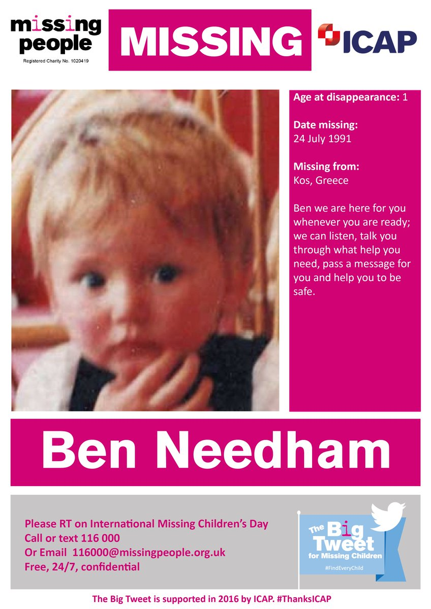 Help find Ben, missing from #Kos since 24 July 1991 #FindEveryChild #TeamBigTweet https://t.co/YMc1ZPQCTD
