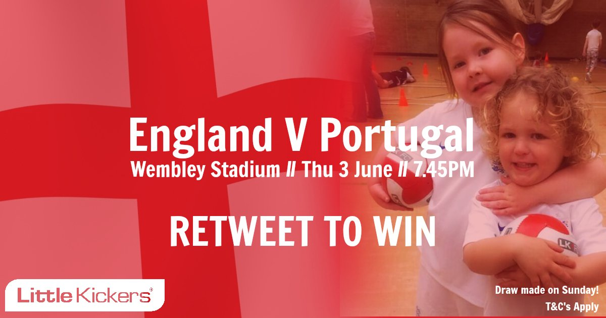 Win tickets to see #England V #Portugal at Wembley on Thu 3 June!   Simply RT to be in with a chance of winning. https://t.co/y5PXy2M9Q7