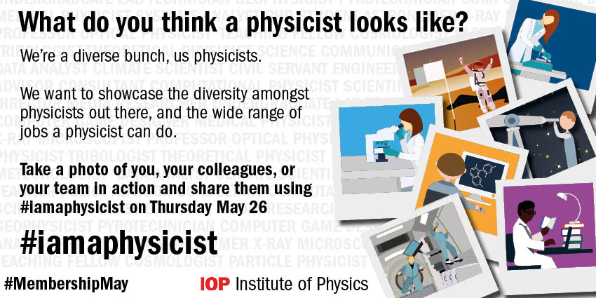 We want to see twitter full of smiling physicists on Thursday, so get your selfies ready! #iamaphysicist https://t.co/JejLJJjn26