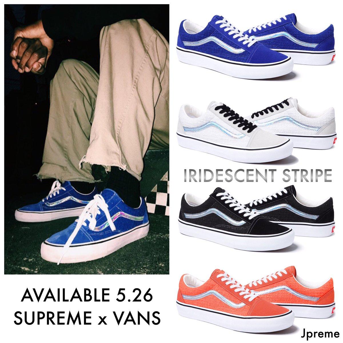 67e952018f1c22 Supreme x Vans Old Skool - Iridescent Stripe - Dropping Tomorrow pic.twitter.com maa06HkDcB