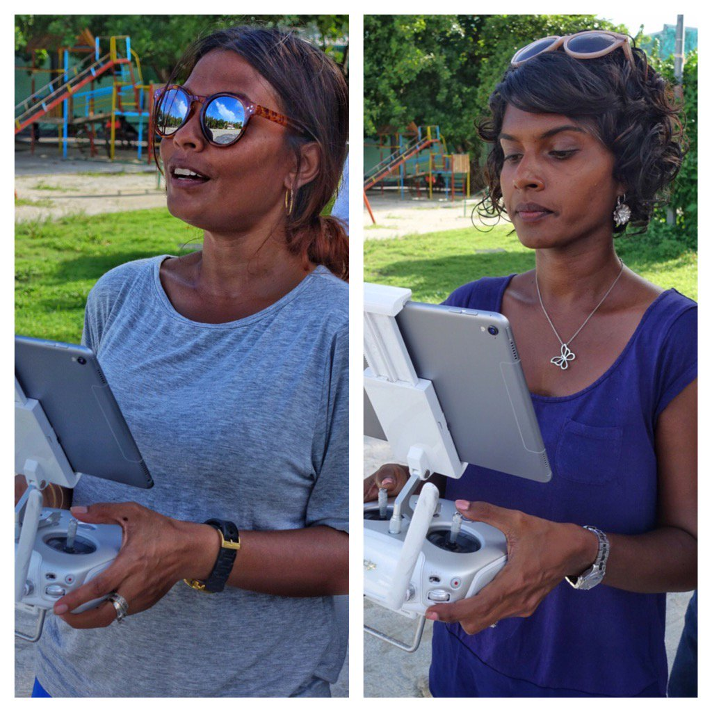 Part of the @UNDPMaldives team strengthening their @DJIGlobal flying skills. #dronesforgood https://t.co/sWtjHOwg0X