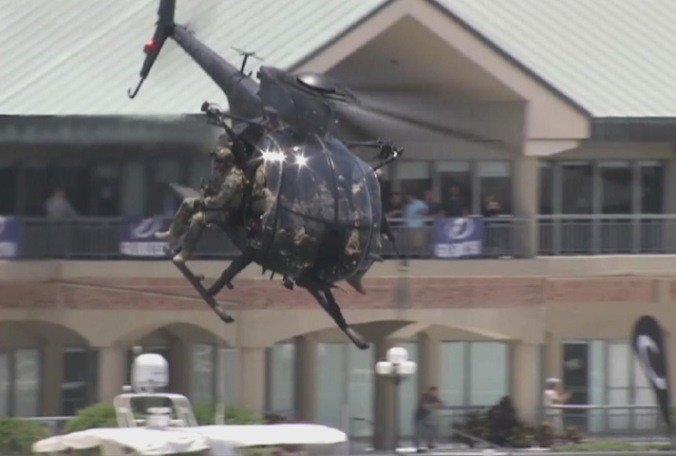Special Forces demonstrations today in downtown Tampa