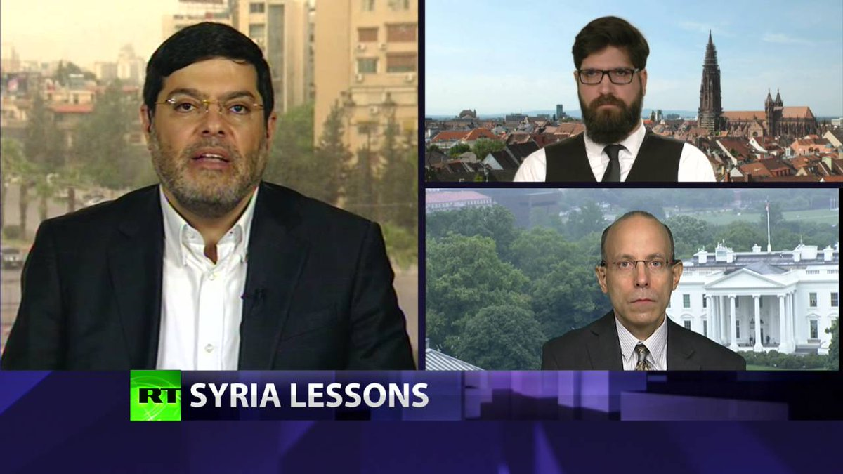 Peter Lavelle&#39;s @PLCROSSTALK #CrossTalk #Syria lessons  https://www. rt.com/shows/crosstal k/343391-obama-syria-peace-process/ &nbsp; …  #news #politics <br>http://pic.twitter.com/JKB8kkCXsE