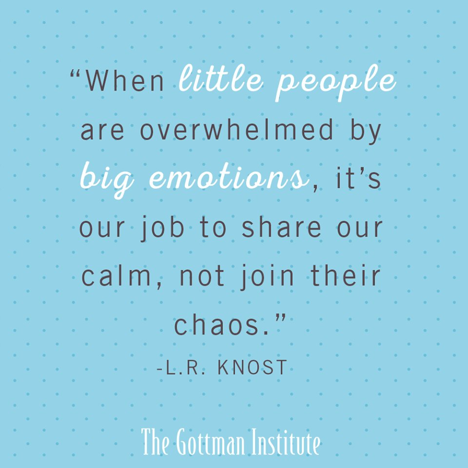 Parents, it's our job to share our calm when little ones are overwhelmed by big emotions - not join in their chaos. https://t.co/MfQjRRnR4K