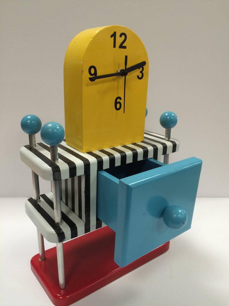 Tia S Fantastic Memphis Inspired Clock Storage Unit Productdesign Https T Co Fdlmzaesr4