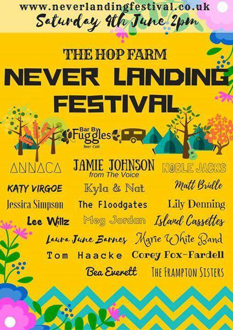 RT @CoreyFoxFardell: Looking forward to playing at Never Landing Festival next Saturday at @Hopfarm