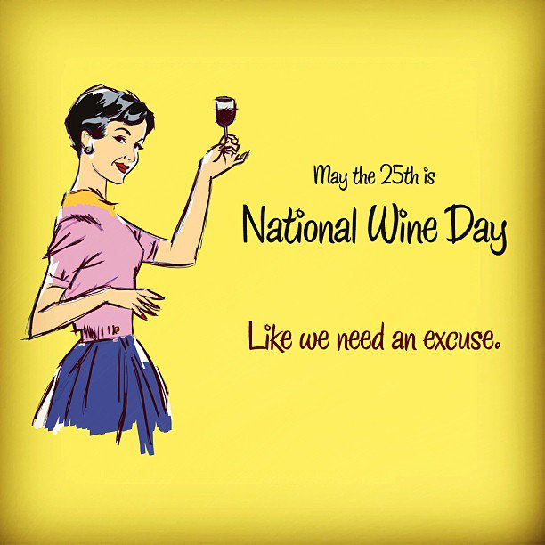 Oh yes, today is #NationalWineDay (like we need an excuse). https://t.co/IvUtuLsQwO https://t.co/BtGNRvyC2g