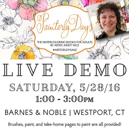 Head out to @BNWestport to try #Painterlydays!! Paint, pages & brushes provided! #worldsfirstWATERcoloringbooks https://t.co/iKyy4AePcg