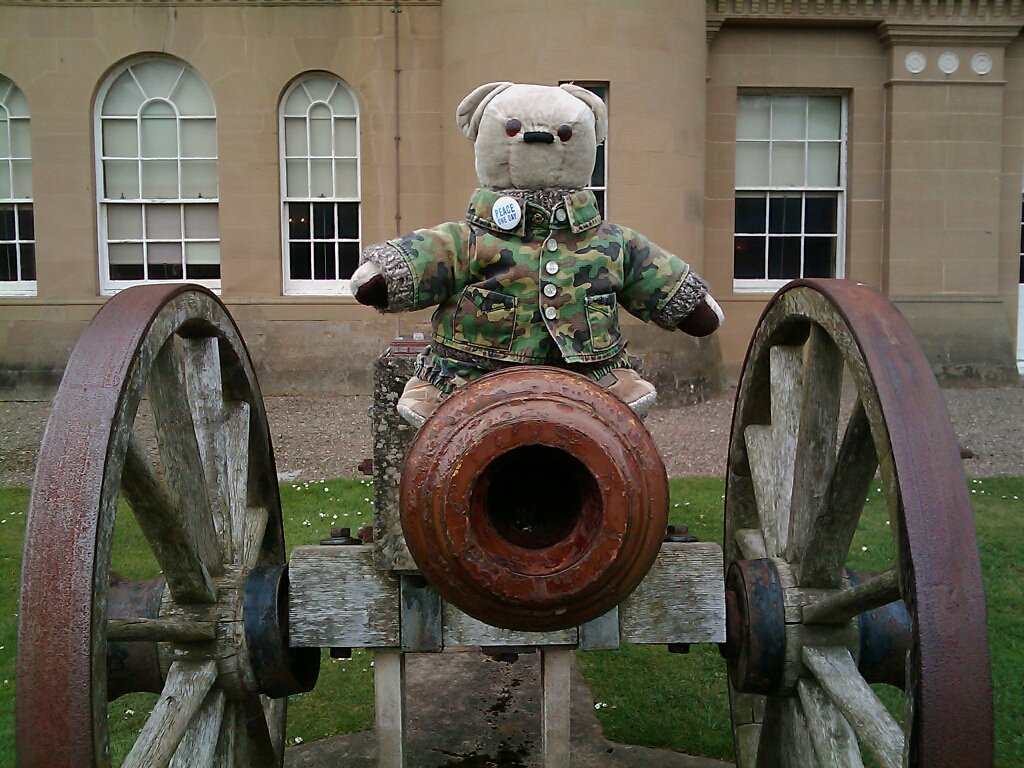 @JezzBear @borders6 @ZombieSquadHQ Just checking out the #ZSHQ Intelligence Office cannon. Need help? https://t.co/OlbpHk0DIw