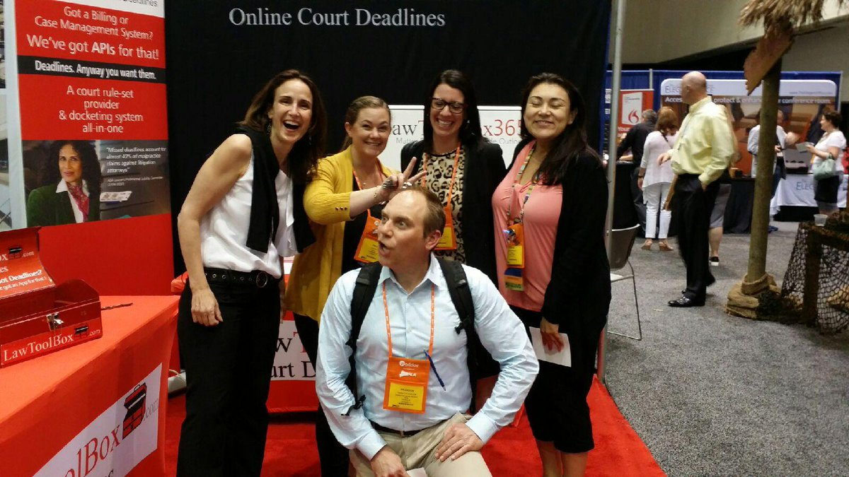 Spontaneous fun talking about #deadlines at booth 805 in the ALA exhibit hall! #bizlaw16 https://t.co/P4JcF2WFhc