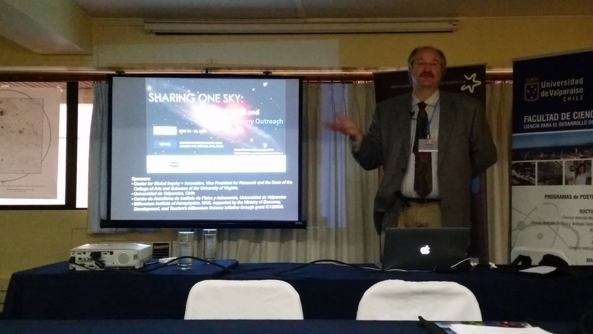 "Comenzamos con Steve Majewski,  ""An Introduction to APOGEE"" en #SharingOneSky https://t.co/nrewQfpPtm"