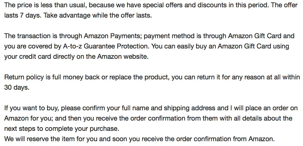 """Peter Rojas on Twitter: """"Yeah, they were asking to be paid via Amazon gift cards, which was a big red flag.… """""""