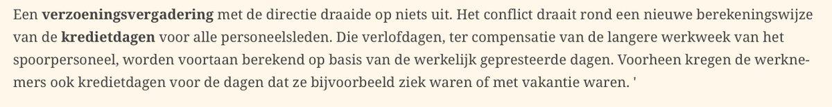 De spoorbonden in België staken omdat ze geen recuperatiedagen meer krijgen voor niet-gepresteerde dagen #Margritte https://t.co/ybShF3yjJa