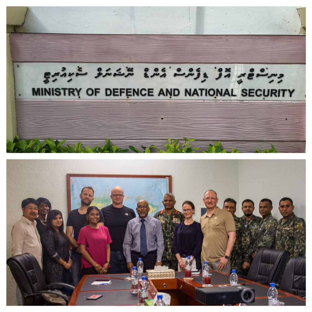 Today we met with the Maldivian Ministry of Defense and National Security as a stakeholder in #DronesForGood https://t.co/7eyJPeAizF
