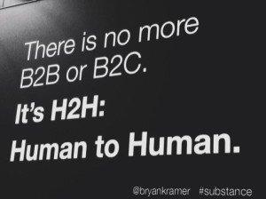 Great point on tweetchat today (via @bryankramer) There is no B2B or B2C: It's Human to Human #H2H #powerofprecision https://t.co/w8zmEarltd