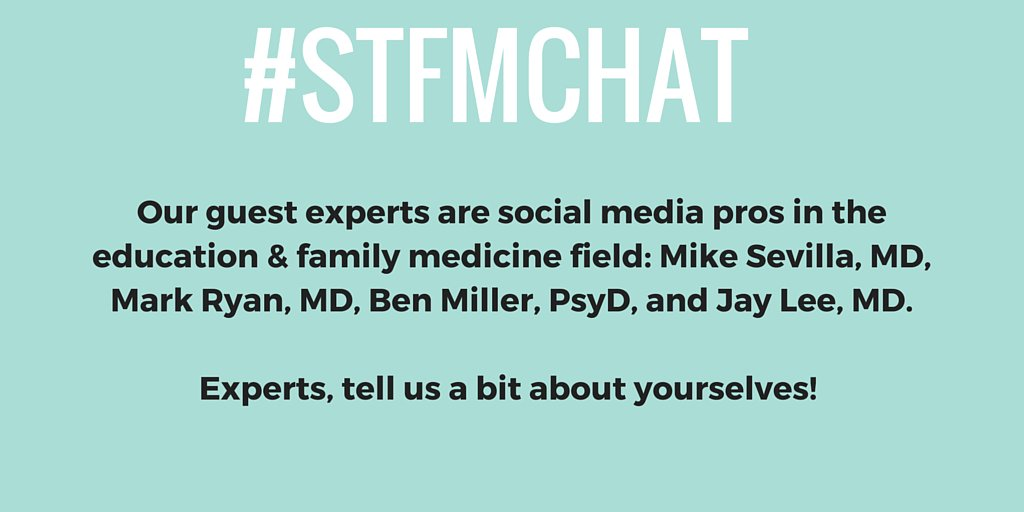 Hey everyone! Welcome to the #stfmchat. Take a moment & introduce yourselves. https://t.co/dop2xEoh91