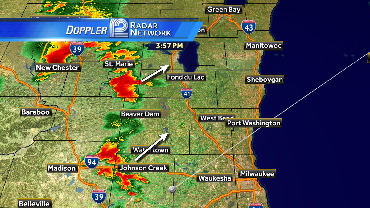 Storms are moving into our western counties. Heavy rain and small hail is possible.