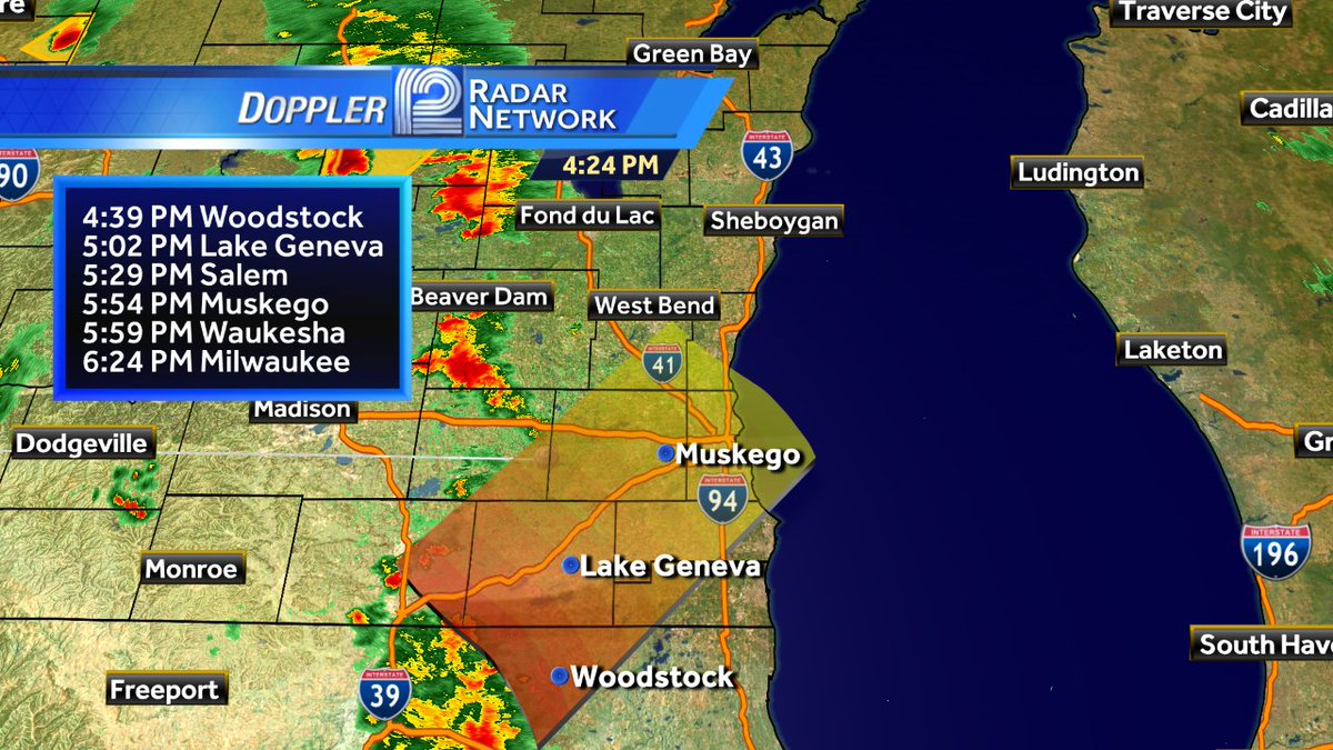 Here are approximate arrival times for the storms heading for the metro.