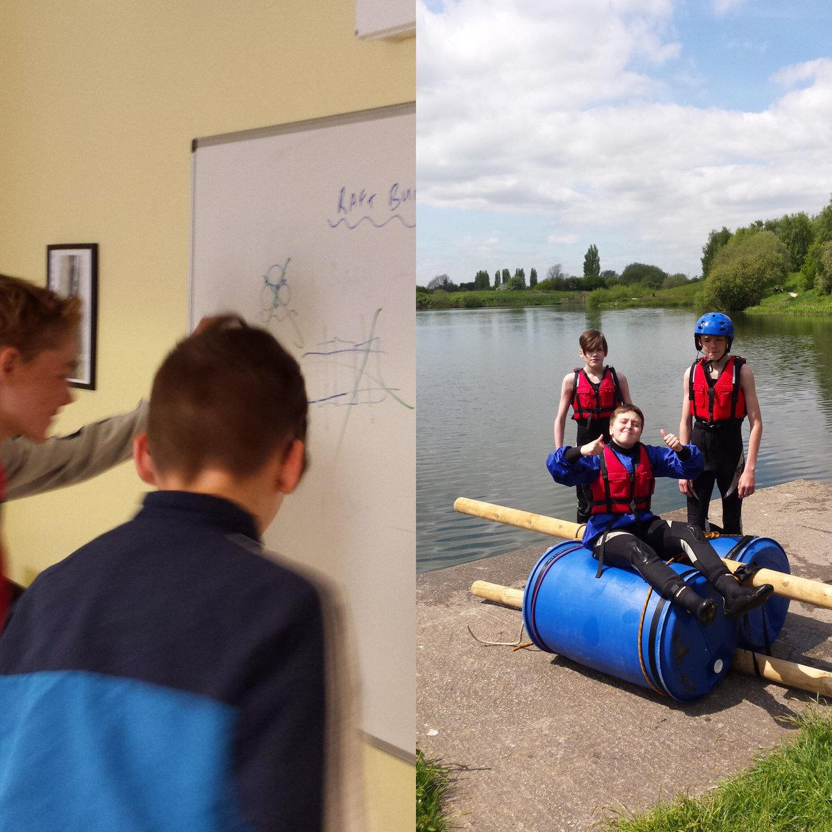 Superb raft building with our students from personalised provision at R.E.A.L. Adventure.